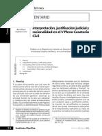 Renzo Cavani - Interpretación, justificación judicial y racionalidad en el V Pleno Casatorio Civil