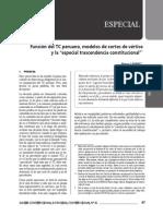 """Renzo Cavani - Función del TC peruano, modelos de cortes de vértice y la """"especial trascendencia constitucional"""""""
