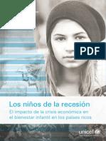 UNICEF Los Niños de La Recesión