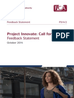 Project Innovate- Call for Input Feedback Statement October 2014