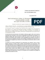 Huit Entreprises Marocaines Cotées Se Distinguent Par Leur Rentabilité Sociale RSE
