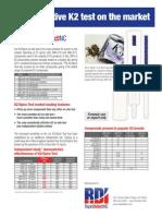 Most Sensitive K2 Test on the Market - Rapid Detect INC