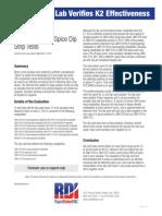 Independent Lab Verifies K2 Effectiveness - Rapid Detect INC