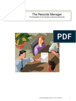 The Records Manager Newsletter Fall 2014