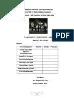 Planeamiento Financiero de La Empresa AVI PER S.A