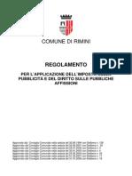 Regolamento per l'applicazione dell'imposta sulla pubblicità e del diritto sulle pubbliche affissioni