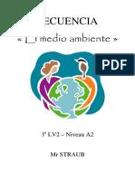 Secuencia El Medio Ambiente 3e LV2 Niveau A2