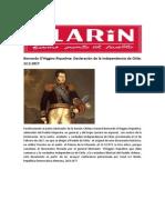 Bernardo o Declaración de La Independencia de Chile 12 02 1817 Clarín