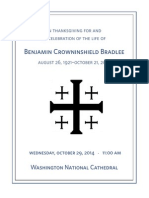 Ben Bradlee Funeral Program