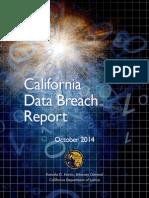 California Data Breach 2013