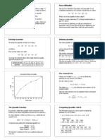 Lectures Quantiles Handouts