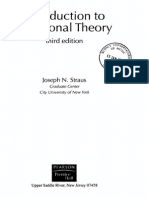 Introduction to Post Tonal Theory