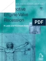 Automotive Engine Valve Recession