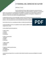 Analisis de La Ley Federal Del Derecho de Autor