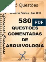 580 Questões de Arquivologia Para Concurso