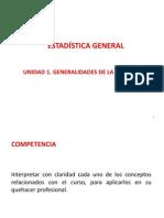 Generalidades de Estadítistica Descriptiva