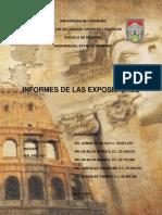 Informes de Exposiciones (Romano)