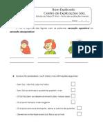 Ficha de avaliação mensal