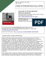 Robertson Roland - Globalisatio or Glocalisation
