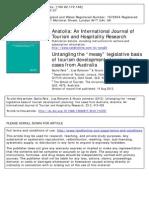 Reid, Ruhanen & Johnston - Untangling the Messy Legislative Basis of Tourism Development Planning - Five Cases From Australia