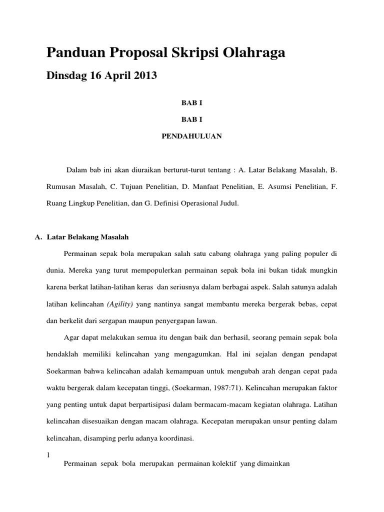 Contoh Skripsi Olahraga Futsal Contoh Soal Dan Materi Pelajaran 8