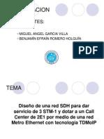 Diseño de una red SDH