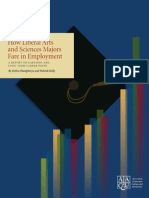 AACU How Liberal Arts and Sciences Majors Fare in Employment