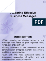 Preparing Effective Business Messages Ppt