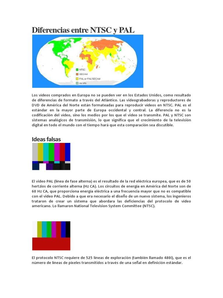 Formatos NTSC , PAL y Diferencia Entre Los Formatos 1080p y 1080i