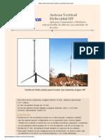 Antena Vertical Helicoidal Hf, Planos, Esquemas, Descripción