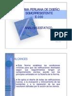 Norma Sismoresistente-Analisis Estatico