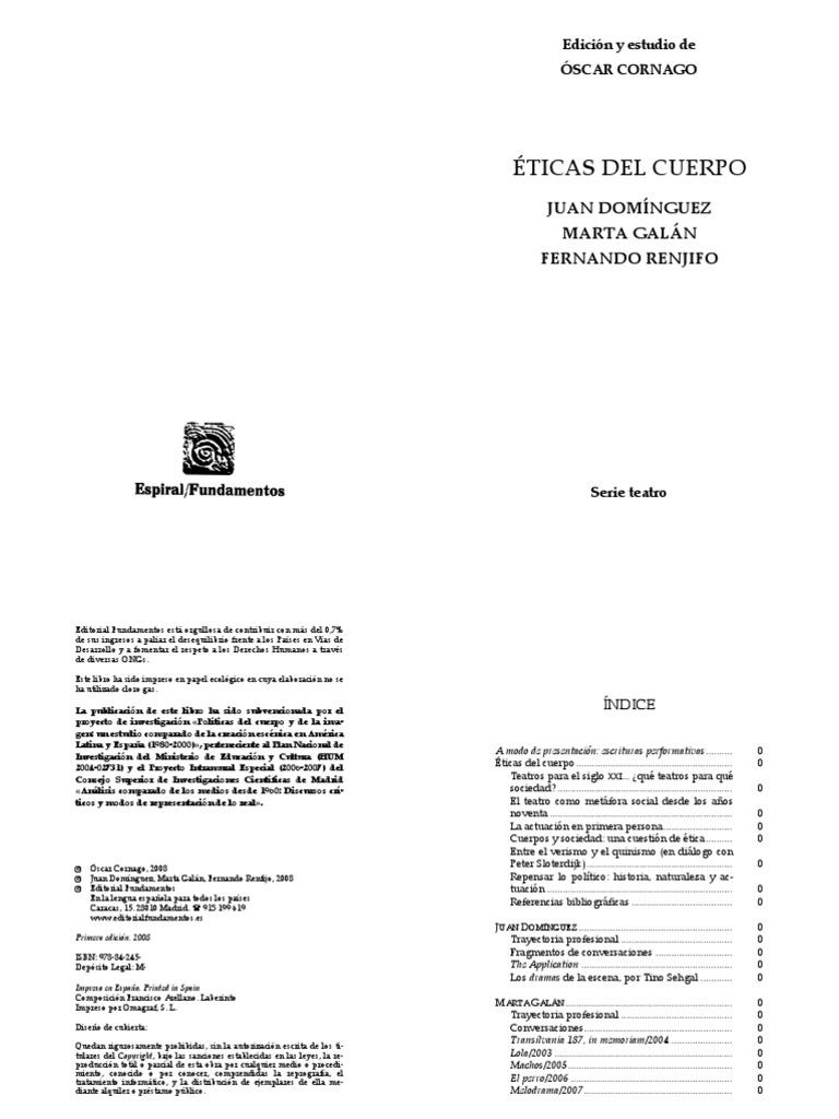 Eticas Del Cuerpo COMPLETO