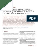 Comprobando Teorias económicas de La Empresa