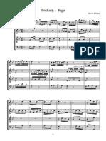 Preludij i Fuga Sib6 - Score and Parts
