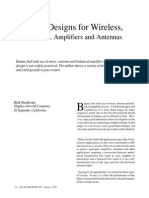 Balun Designs for Wireless-Mixers-Amplifiers and Antennas