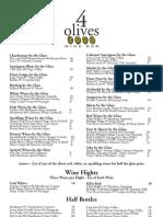 4 Olives - Wine Glass List - 12/09