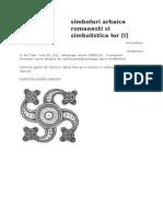 Simboluri Arhaice Romanesti Si Simbolistica Lor-I