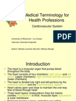 medical terminology cardiovascular system