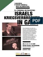 Sonntag 09. November 2014 Veranstaltung – Israels Kriegsverbrechen in Gaza