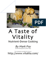 A Taste of Vitality Nutrient..Dense Cooking (Vegan Cookbook)
