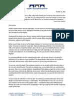 Arquitos Capital Management - Q3 2014 Investor Letter