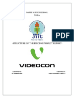 Pricing strategy Project videocon