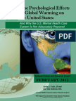 The Psychological Effects of Global Warming on the United States