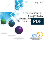 ANR 2013 Utilizacion CANON Para Investigacion