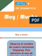 Gramática. Ejemplo muy mucho