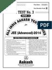 JEE Advanced 2014_Test 3 (Paper II) Code B