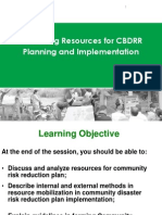 Mobilizing Resources for CBDRR Planning and Implementation