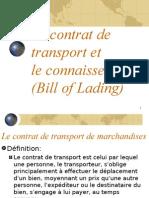 Le Contrat de Transport Et Le Connaissement