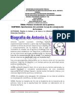 Biografìa Antonie Laurent Lavoisier