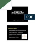 FMH - Adaptações neuromusculares